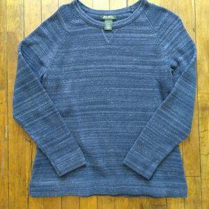 Vintage Eddie Bauer Medium Sweater Blue Marled